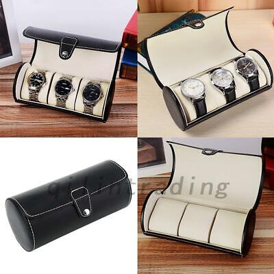3 Slot Watch Case PU Leather Box Jewelry Watch Casket Travel Storage Holder AU