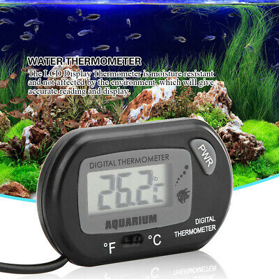 Mini LCD Digital Fish Tank Reptile Aquarium Water Meter Thermometer Temperature
