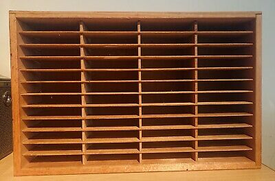 Napa Valley Box Company 48 Slot Cassette Tape Rack. Wooden