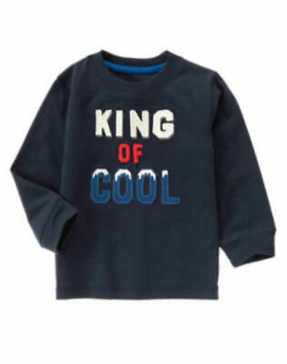 NWT Gymboree Boy KING OF COOL Navy Blue Cool Tee Shirt  Size 2T