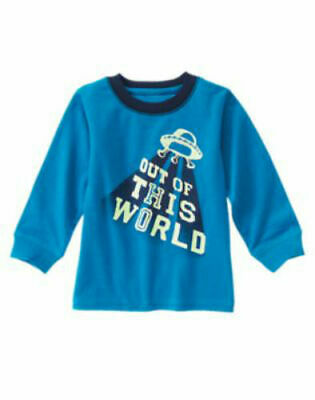 NWT Gymboree Boy STAR BRIGHTS Blue Flying Saucer Tee Shirt  Size 2T