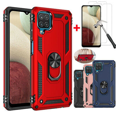 For Samsung Galaxy A10e A20 A50 Case Shockproof Kickstand Cover +Tempered Glass