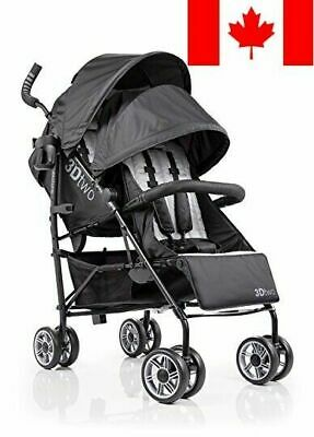 Summer Infant 3D Two Double Convenience Stroller, Black