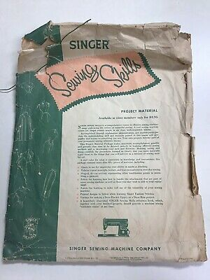 Vintage Singer Sewing Skills Reference Book 1955 Guide Manual