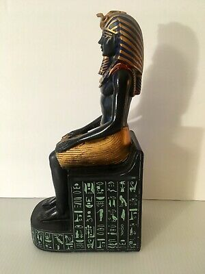 Egyptian Statue Bookend Book End Ethnic Art Artwork Statuary Display God Pyramid