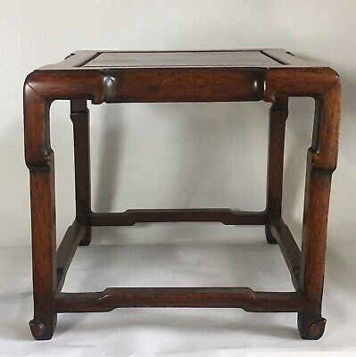 Vintage Antique Chinese Carved Wood Display Table Stand Large