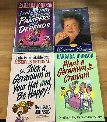 Lot Of 4 Barbara Johnson Paperbacks