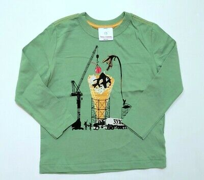 Hanna Andersson 100 Ice Cream Syrup Sueded Jersey Tee Top T-Shirt JA1-510