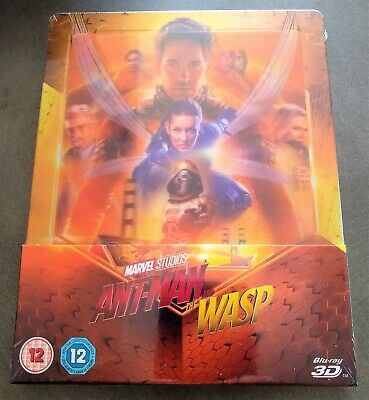 ANT-MAN AND THE WASP Blu-Ray 3D + 2D Zavvi UK Limited Lenticular STEELBOOK