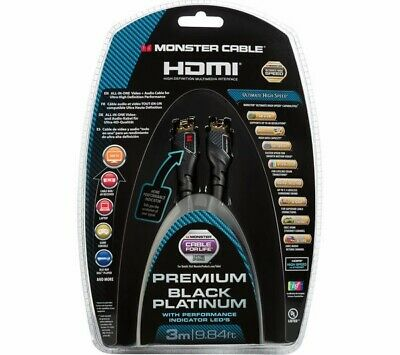 MONSTER BLACK PLATINUM Ultra HD High Speed HDMI Cable With Ethernet