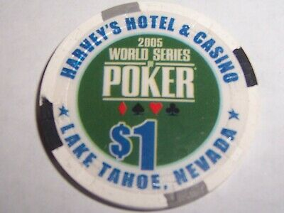 Wsop Casino Chips Harvey's Casino World Series Of Poker $1 Chip 2005 Tahoe