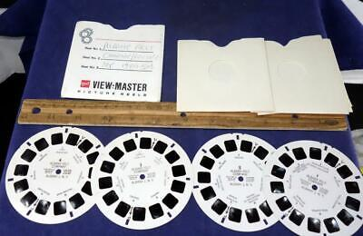 Rare 1950s Viewmaster Albany Felt Company Factory Set Of 4 Reels New York !
