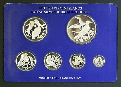 British Virgin Islands Sterling Silver Proof Set 1977