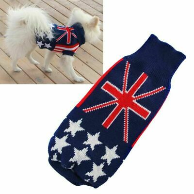 Puppy Warm Sweater Small Pet Dog Cat Knit Winter Outwear Clothes Coat XS-XXL