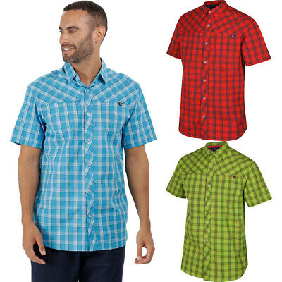 Regatta Mens Honshu III Short Sleeve Button Down Casual Shirt