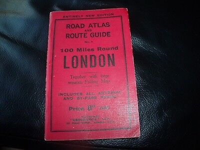 Entirely New Edition Road Atlas and Route Guide No 1 100 miles round London