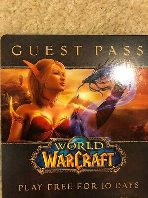World of Warcraft 10 Day Guest Pass Key - Code Only - Fast Email Delivery