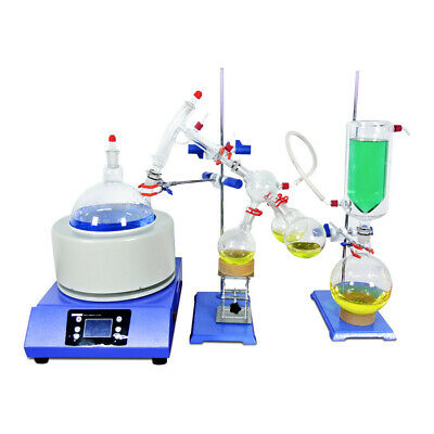 Lab Short Path Distillation Kits 5L Glassware Distiller Heating Mantle