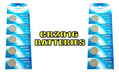 10 x CR2016 BR2016 DL2016 ECR2016 KCR2016 LM2016 3V Button Coin Cell Batteries