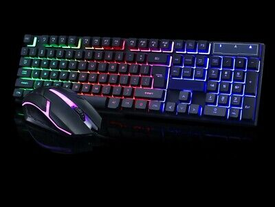 Tastiera + mouse da gioco,led retroilluminata RGB LED.Gaming keyboard PC luce