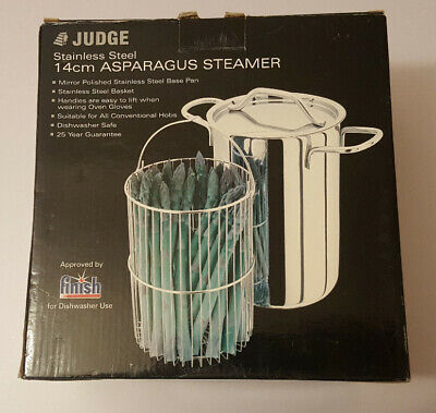 Judge 14cm Asparagus Steamer Box is open but never been used.