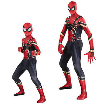 Spider-Man Homecoming Iron Spiderman Cosplay Costume Superhero Bodysuit Jumpsuit