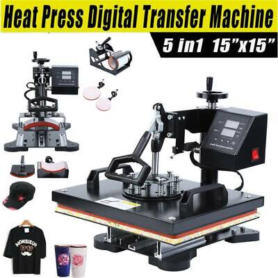 "Ridgeyard 15x15"" 5 in 1 Combo Heat Press Digital Transfer Machine Sublimation"