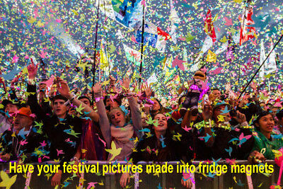 Festival Pictures Made Into Personalised Jumbo Fridge Magnets 90mm x 60mm