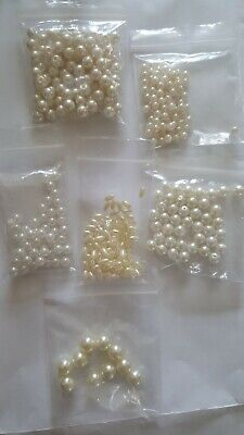 Pearl craft beads variety of shapes and sizes mixed bundle