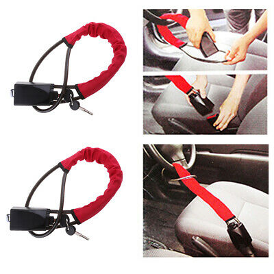 2pcs Steering Wheel Style Security Lock Anti Theft Security Car Truck SUV