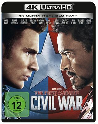 The First Avenger: Civil War (4K Ultra HD + Blu-ray) Neu & OVP