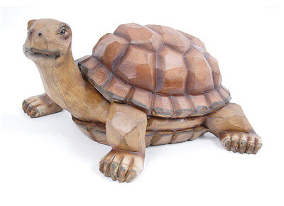 Beautiful Carved Wood Look Turtle Indoor Home Decor