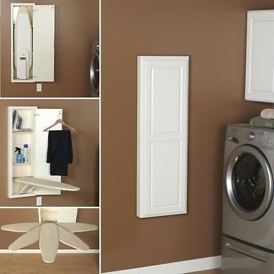 Recessed Ironing Board Hideaway Storage Cabinet Fold Away