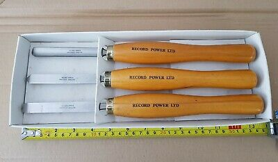 Record Power Wood Turning Chisels. Set Of 3.