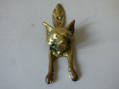 Collectable Farm Countryside Brass Fox Hunt Hunting Door Knocker #3 Free Uk P+P