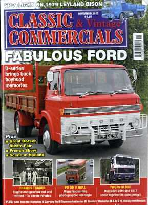 Classic & Vintage Commercials Magazine 2013 Nov Fabulous Ford, Thames Trader