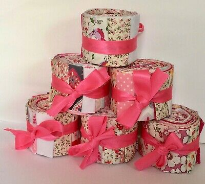 "100% cotton small Jelly Roll - quilting & patchworking - 18 x 2.5"" x 32"" strips"