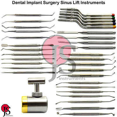 Implant Sinus Lift Elevators Periosteal Bone Graft Carrier Packer Osteotome