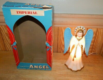 Vintage Imperial Christmas Angel Light Lamp / Night Light with Box