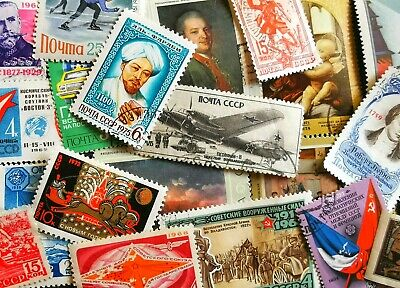 50 USSR Stamps All Different Soviet Russia Russian Soviet States