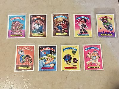 Topps Garbage Pail Kids Sticker Cards Vintage Original 1980's Lot of 9 Cards