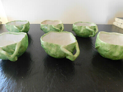 Wannopee Lettuce Leaf Cups.  6 Available 1903.  22.75 Each Cup FREE SHIPPING