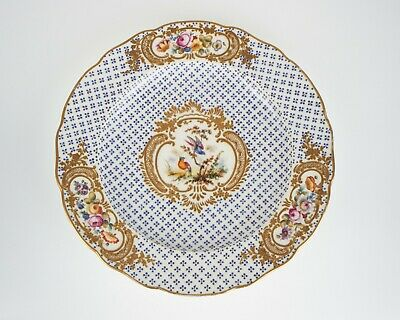 Antique 19th century  bird and flowers porcelain plate.