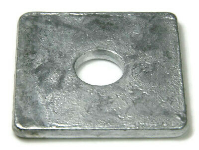 """Square Washers Hot Dip Galvanized Steel Square Plate Washers - Sizes 1/2"""" To 1"""""""