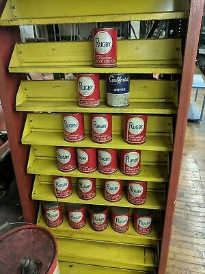 Vintage Rugby Motor Oil one quart oil can all full never opened.