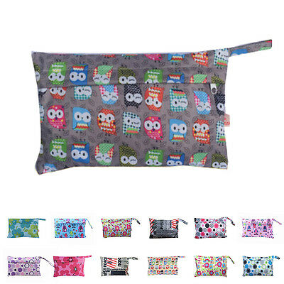 Baby Waterproof Travel Wet Dry Storage Bag Portable Cloth Zipper Diaper Pouch pn