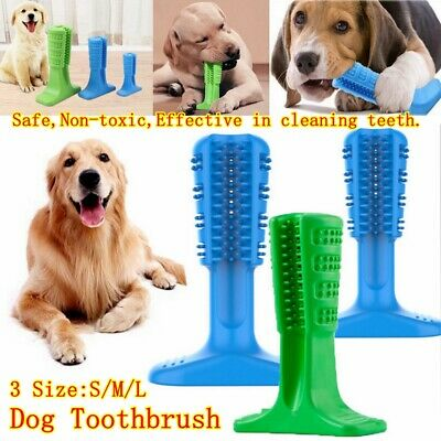 Dog Toothbrush Toy Clean Teeth Brushing Stick Pet Brush Mouth Chewing Clean UK