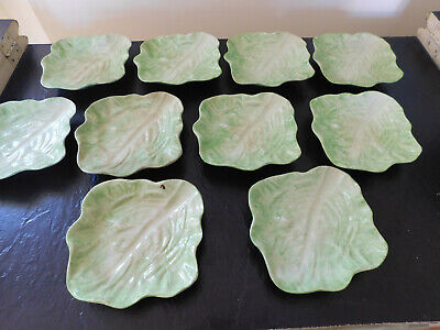 "WANNOPEE LETTUCE LEAF 5 1/2"" Dishes. 1903. 10 Avail. FREE SHIPPING Buy EACH Now!"