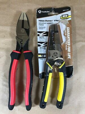 Southwire SNM1214HD Heavy Duty Forged Romex Stripper/SCP9TPC Cutting Pliers