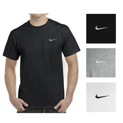 Nike Men's Short Sleeve Athletic Wear Embroidered Swoosh Workout Active T-Shirt
